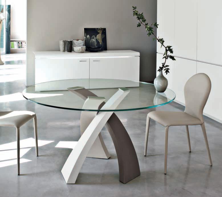 Tavolo eliseo tondo 120 by tonin casa - Dimensioni tavolo tondo 4 persone ...
