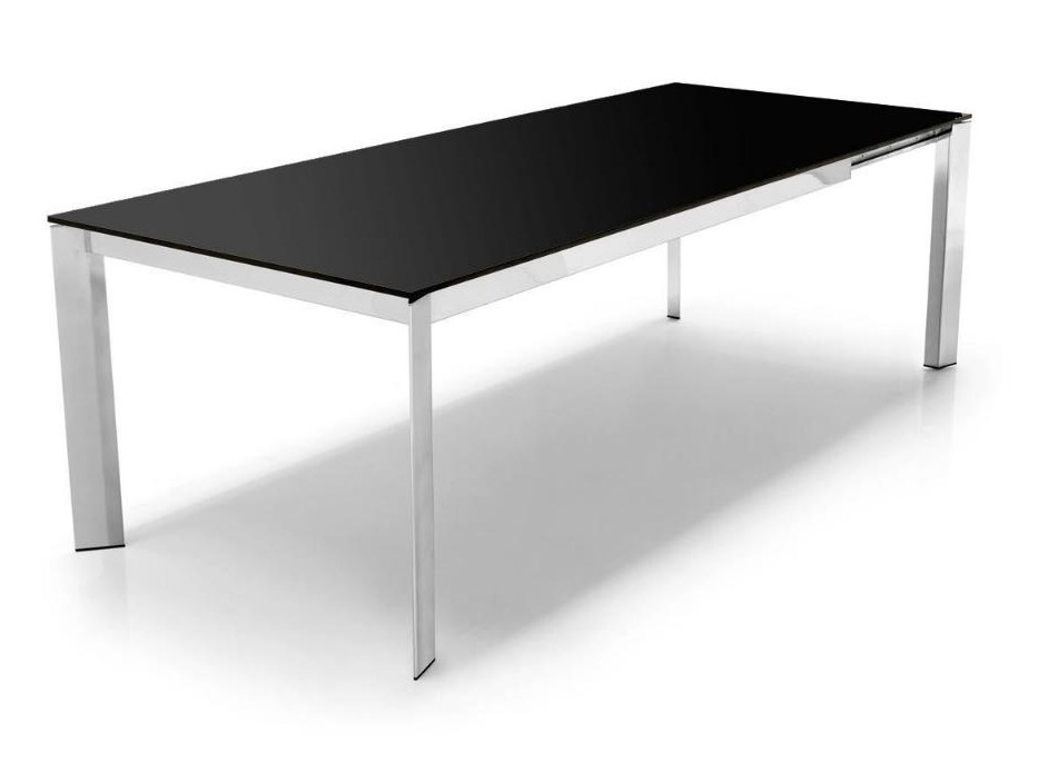 Tavolo BARON 180 ALLUNGABILE 240 TOP VETRO by Connubia Calligaris ...