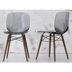 Sedia LOTO W con gambe in legno by Bonaldo