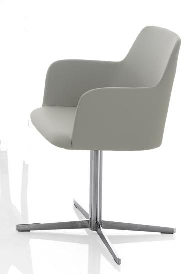 Sedia MARGOT con Braccioli Base Croce by Bontempi