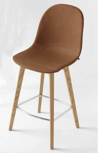 Sgabello ACADEMY WOOD BASSO Gambe Legno by Connubia Calligaris