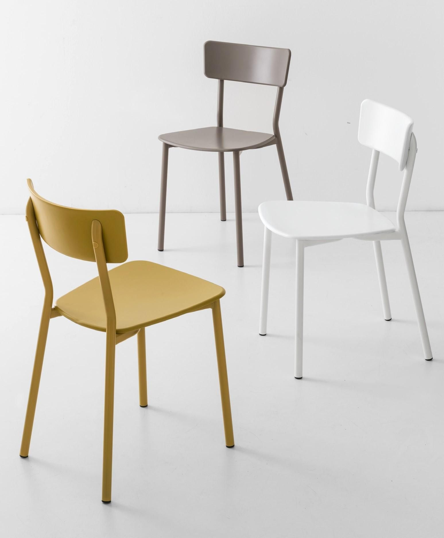 Sedia JELLY METAL con gambe Metallo by Connubia Calligaris
