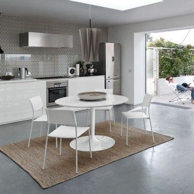 Tavolo PLANET 90 PIANO WOOD by Connubia Calligaris