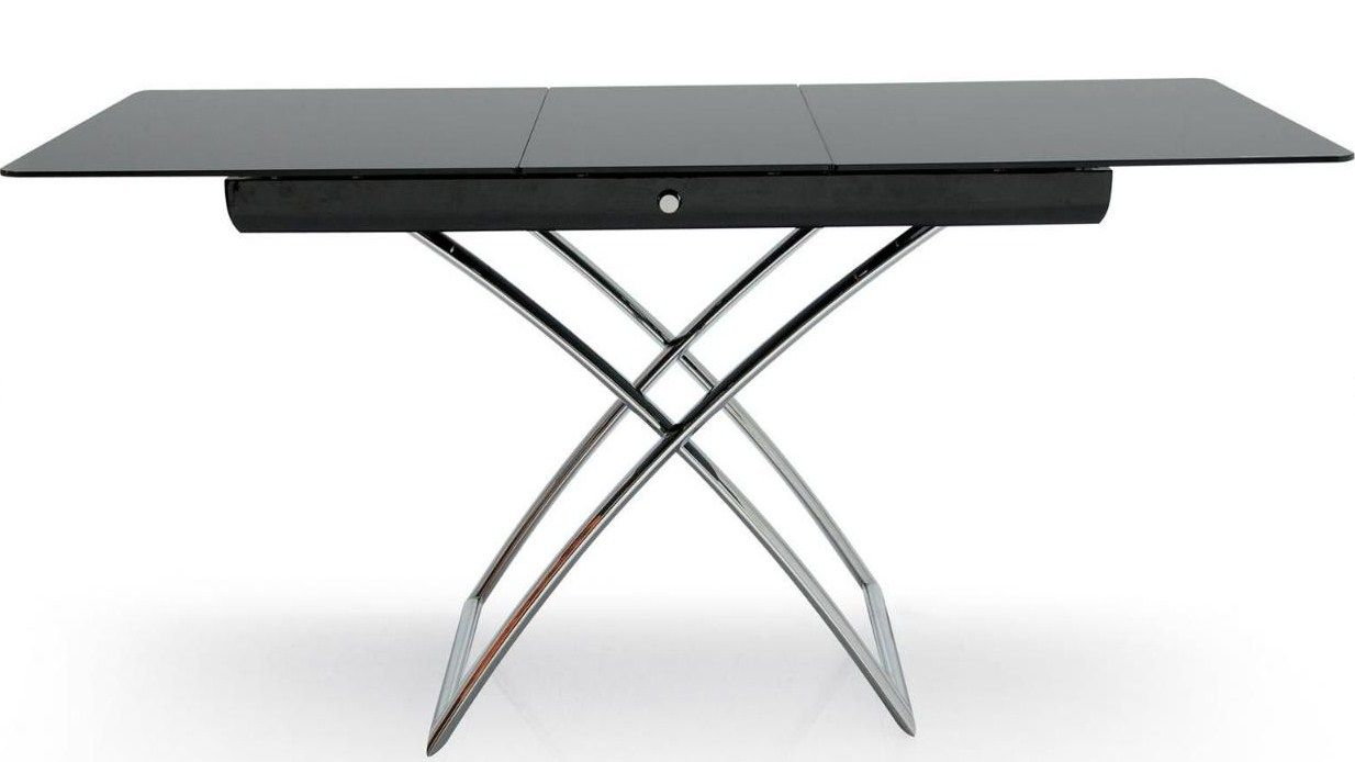 Tavolo MAGIC-J REGOLABILE ALTEZZA TOP VETRO by Connubia Calligaris ...