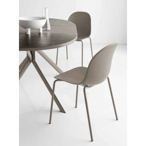 Sedia ACADEMY Gambe Metallo by Connubia Calligaris