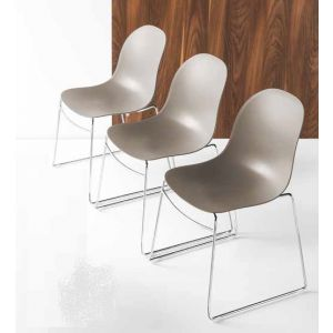 Sedia ACADEMY Gambe a Slitta Impilabile by Connubia Calligaris