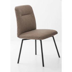 Sedia GRETA con 4 Gambe Metallo e Seduta Girevole-Connubia Calligaris