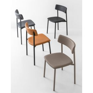 Sedia UP Con Seduta Cuoio Rigenerato by Connubia Calligaris