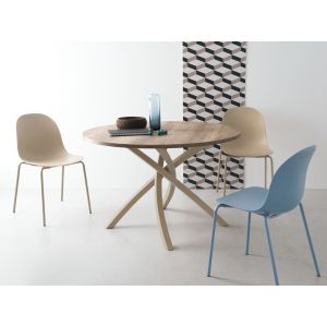 Tavolo TWISTER con Piano Tondo by Connubia Calligaris